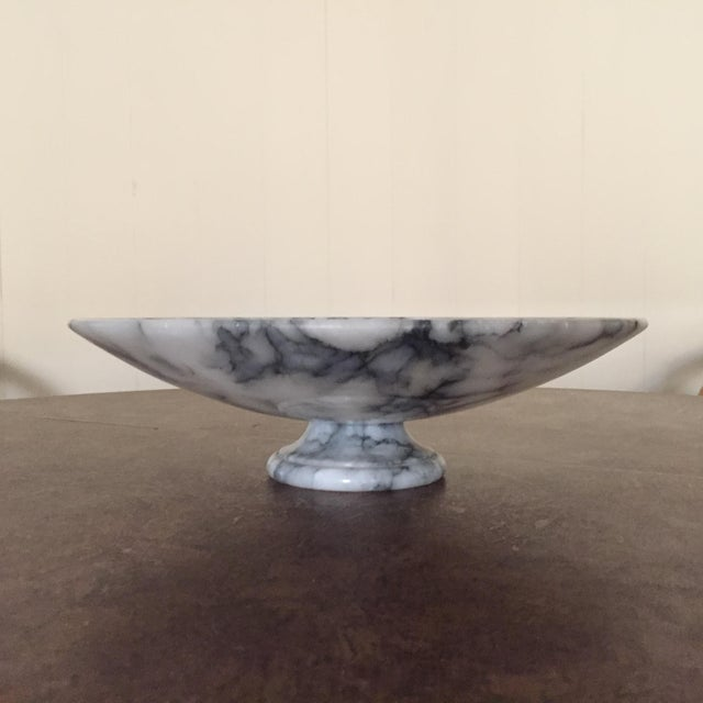 Contemporary Vintage Marble Pedestal Bowl For Sale - Image 3 of 4