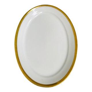 Gda Charles Field Haviland Limoges White Gold Rimmed Serving Platter For Sale