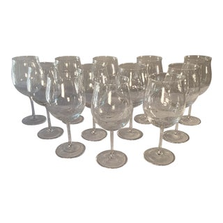 Seeded-Glass Grand Cru Burgundy Wine Glasses - Set of 12 For Sale