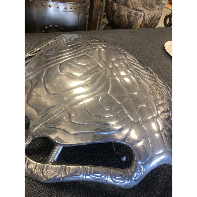 1970s Vintage Arthur Court Aluminum Turtle Shell Sconce For Sale - Image 11 of 12