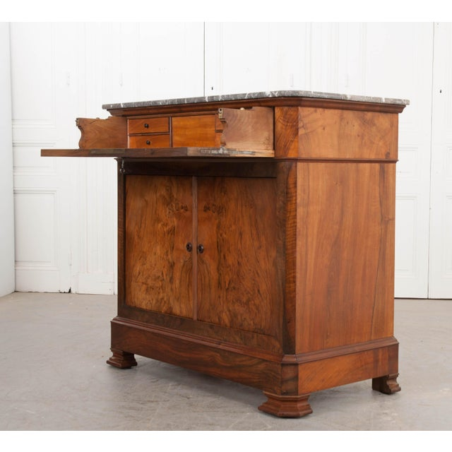 French 19th Century Louis Philippe Walnut Drop-Front Desk For Sale In Baton Rouge - Image 6 of 12