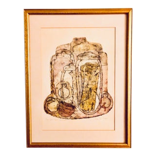 Original Signed & Numbered Collagraph by Israeli Artist Lika Tov For Sale