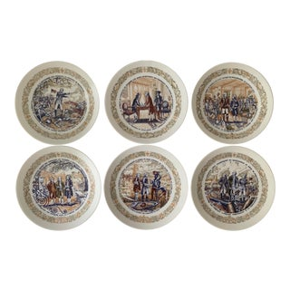 1970s d'Arceau Porcelain Limoges Plates - Set of 6 For Sale