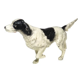 Vintage Hubley Cast Iron Setter Hunting Dog Doorstop For Sale