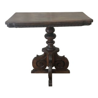 18th C Italian Walnut Accent Table For Sale