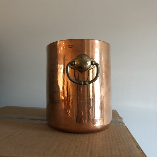 Copper Ice Bucket With Slots for 2 Bottles - Image 2 of 6