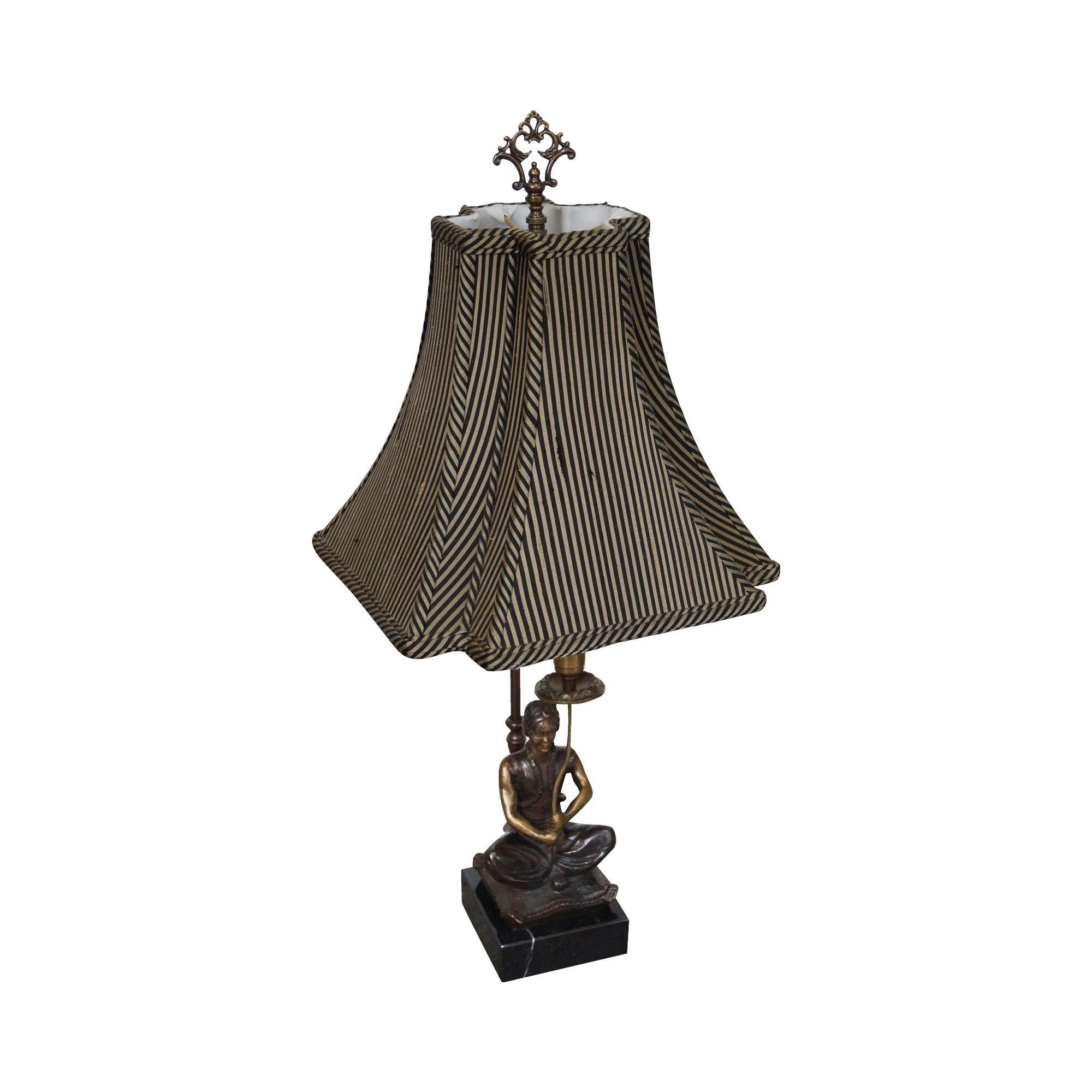 Maitland Smith Bronze Amp Marble Table Lamp Chairish