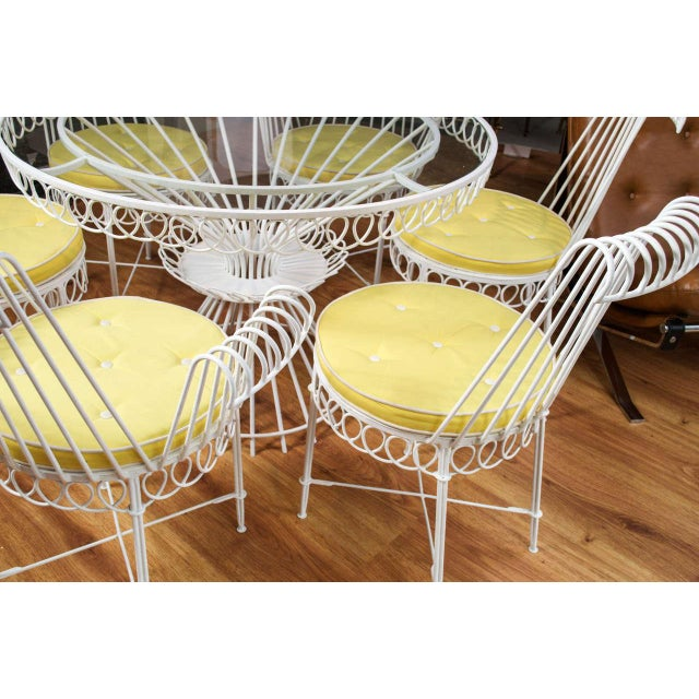 White Mathieu Mategot Set of Table and 6 Chairs For Sale - Image 8 of 10