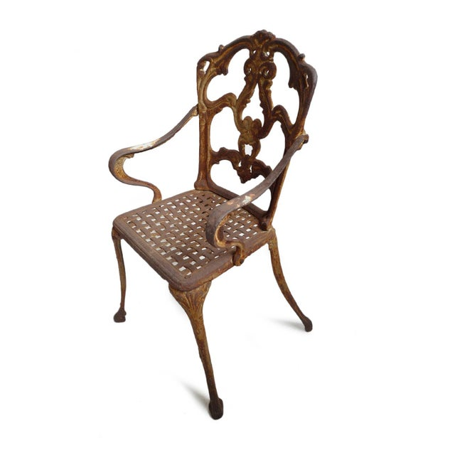 Vintage Cast Iron Bistro Set of Three For Sale - Image 4 of 7