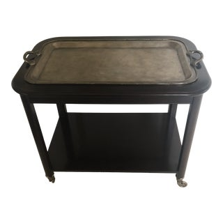 Hotel Trolley Serving Cart With Silver Tray For Sale