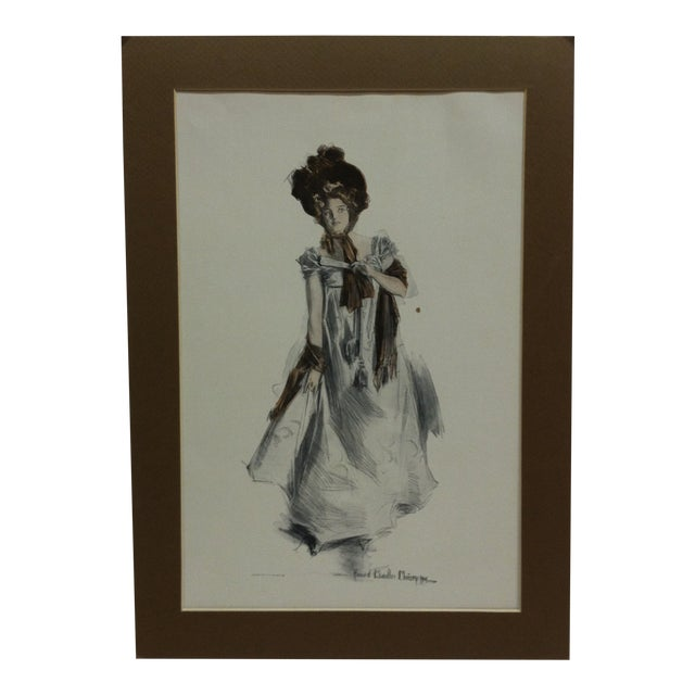 "Vintage Print . ""How Pleasant It Is to Have Money"" by Harrison Fisher For Sale"