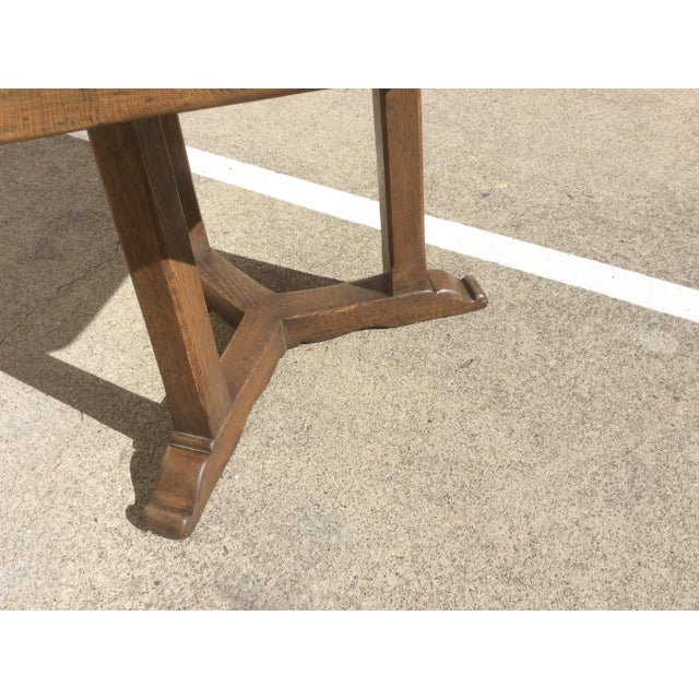 1940s Rustic Oak Center Table For Sale - Image 5 of 10
