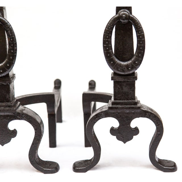 Bradley Hubbard Pair of 1890s Bradley & Hubbard Tall Andirons For Sale - Image 4 of 11