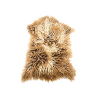 "Contemporary Natural Wool Sheepskin Pelt - 2'5""x3'1"" For Sale"