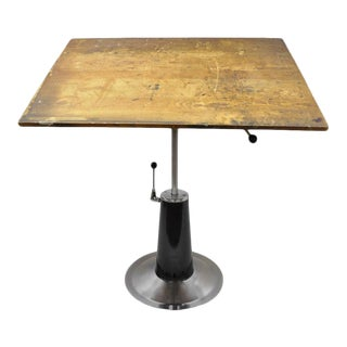 Vintage Art Deco Style Hydraulic Drafting Table For Sale