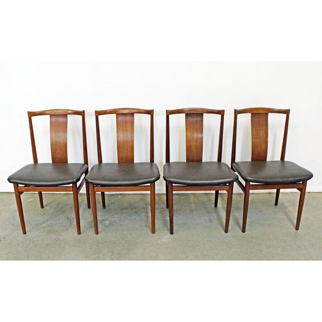 Set of 4 Mid-Century Modern Folke Ohlsson Style Teak Dining Chairs For Sale - Image 13 of 13