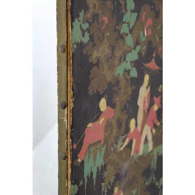 Antique Chinoiserie Folding Floor Screen - Image 6 of 8