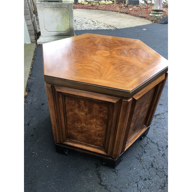 Thomasville 1960s Asian Thomasville Hexagonal Side Table For Sale - Image 4 of 9