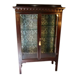 Chinese Chippendale Display Cabinet For Sale