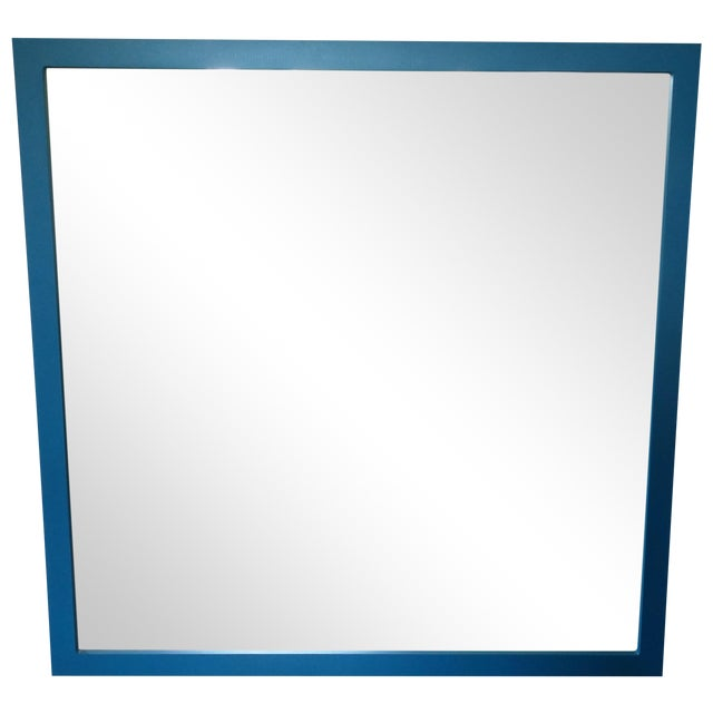 Large Square Blue Mirror - Image 1 of 3