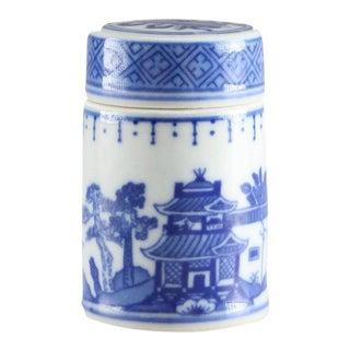 Blue Willow Small Lidded Jar