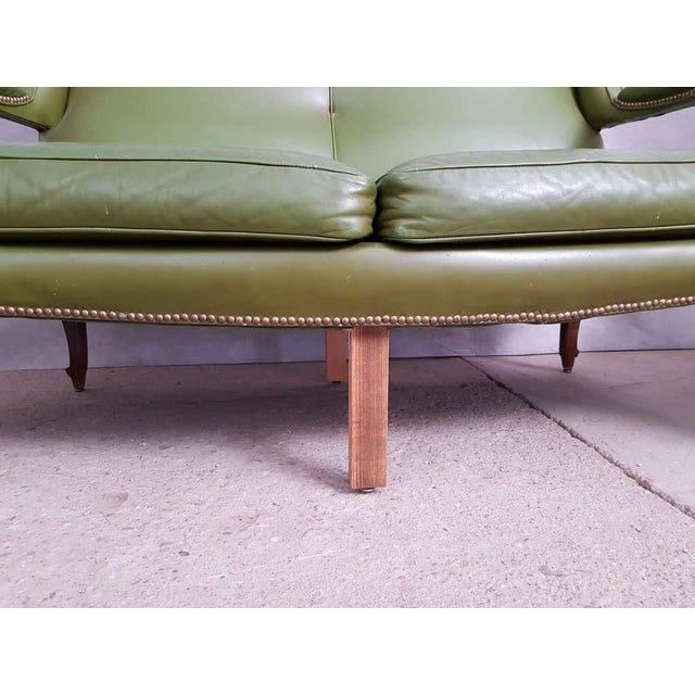 Vintage Mid 20th. C. Queen Anne Style Wing Sofa and 2 Wing Armchairs Suite For Sale - Image 12 of 13