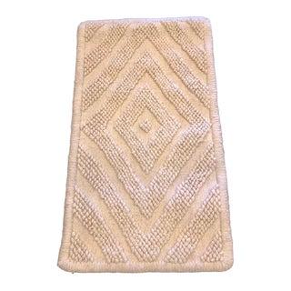 Bohemian Diamond Pattern Wool Rug - 1′10″ × 3′2″ For Sale