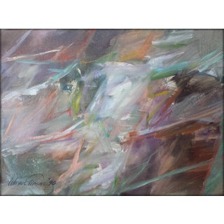 """1990s Abstract Oil on Canvas Painting """"Classic"""" by Wayne Timm For Sale"""