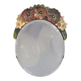 Antique 20th C. Edwardian Barbola Table Mirror For Sale