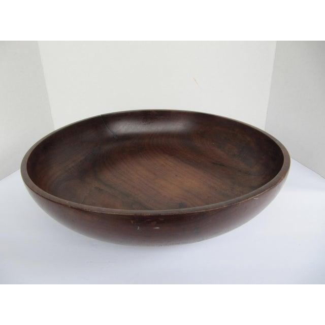 Brown Vintage Brazilian Wood Bowl For Sale - Image 8 of 8