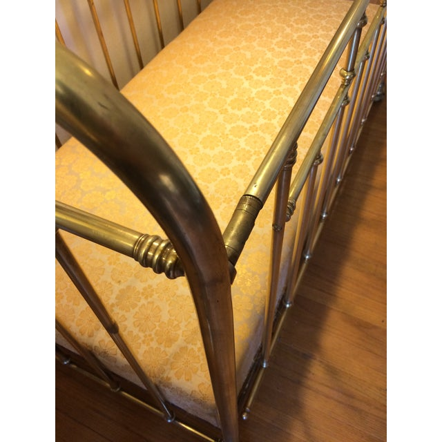 Vintage French Solid Brass Baby Crib For Sale In Los Angeles - Image 6 of 11