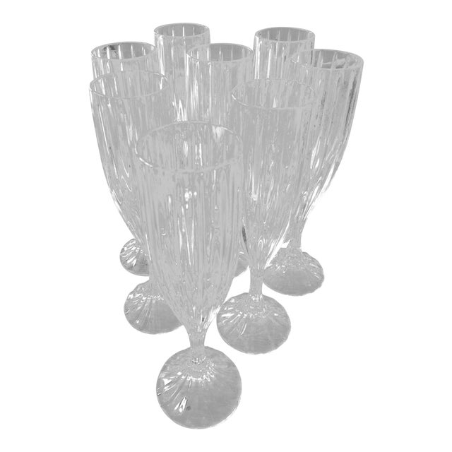Mikasa Champagne Flutes - Set of 8 For Sale