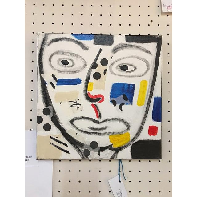 "Phyllis Rinaldi ""II Primary Man"" Original Painting on Canvas - Image 5 of 6"