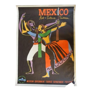 Vintage Mexican Travel Poster For Sale