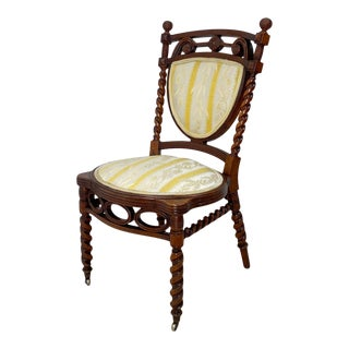 Circa 1870 Huntzinger Style Side Chair, American For Sale
