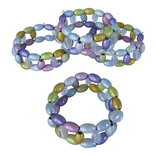 Pastel Beaded Napkin Rings-4 Pieces