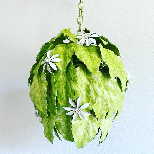 Leafy Italian Pendant Light For Sale - Image 10 of 10