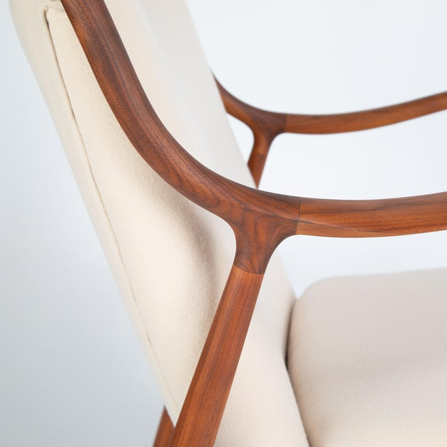 """Pair of Finn Juhl """"45"""" Chairs for Baker Furniture, Circa 1960s For Sale - Image 12 of 13"""