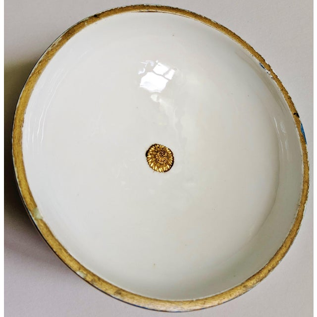 Antique French Gilt Bronze & Porcelain Sevres Jewelry Box / Potpourri For Sale - Image 12 of 13