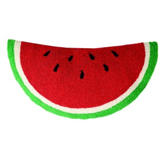 Watermelon Shaped Hooked Wool Pillow For Sale