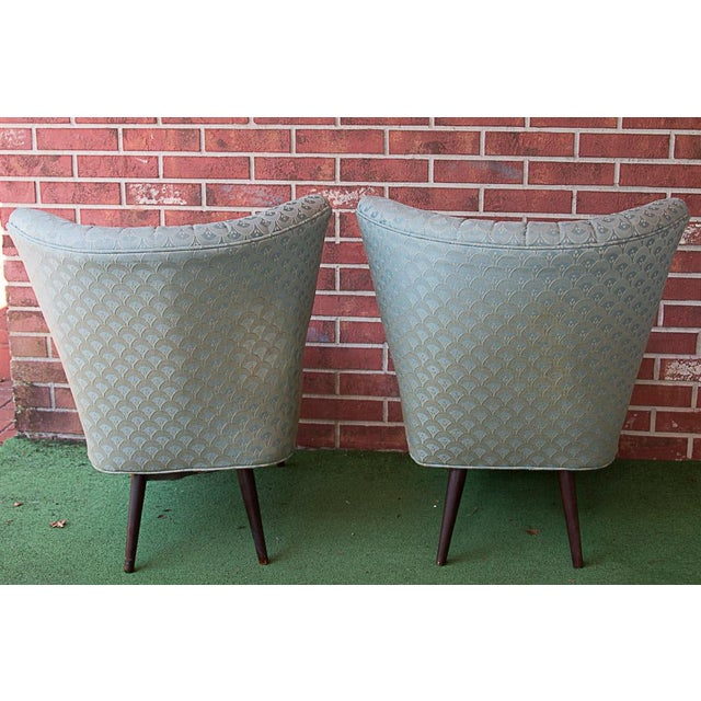 50's Era Slipper Chairs With Tapered Legs - A Pair - Image 4 of 10