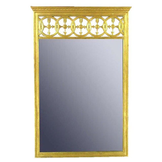 Wood Large Italian Empire Gilt Mirror For Sale - Image 7 of 7