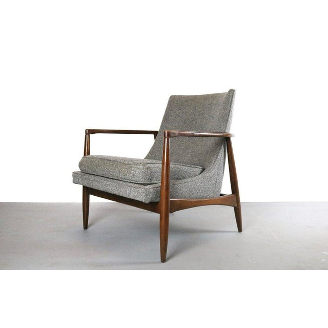 Vintage Mid Century Larsen Style Lounge Chair For Sale - Image 4 of 4