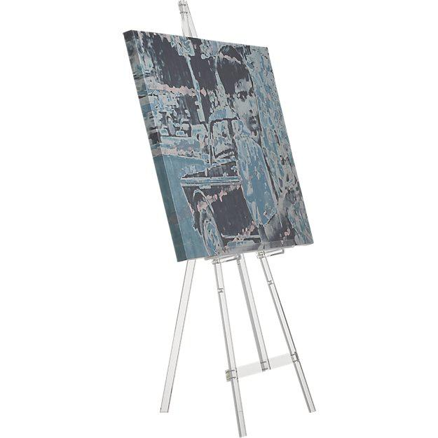 Contemporary Cb2 Acrylic Tripod Easel For Sale - Image 3 of 5
