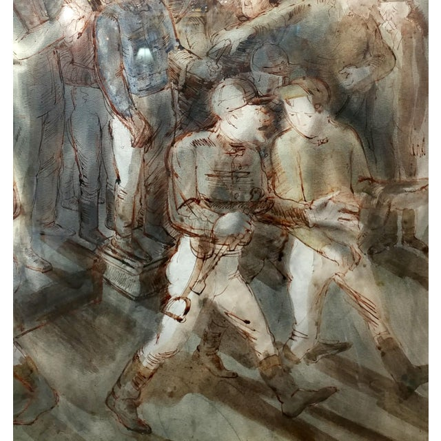 1930s Carl Hugo Beetz- Jockeys - MIX Media Painting- C1939 For Sale - Image 5 of 9