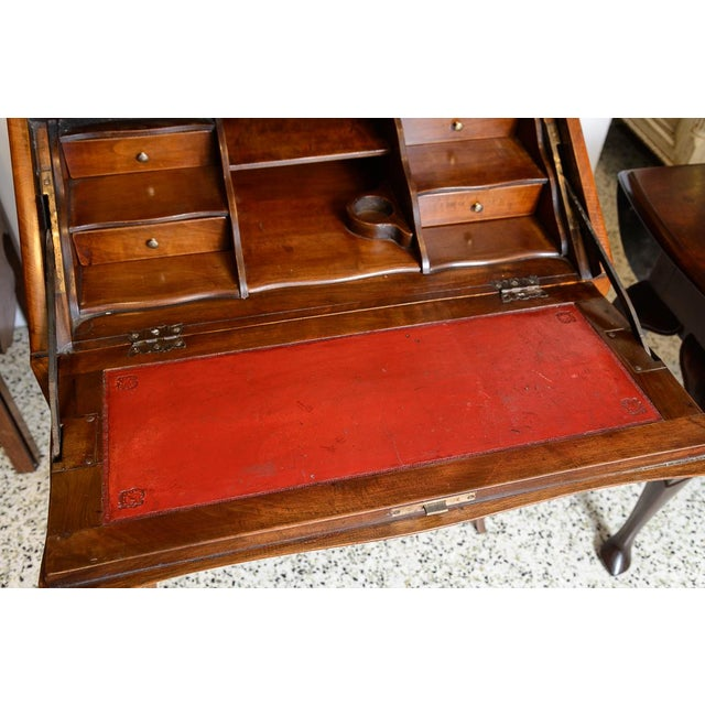 Brown French Cherry Slant Front Desk For Sale - Image 8 of 9