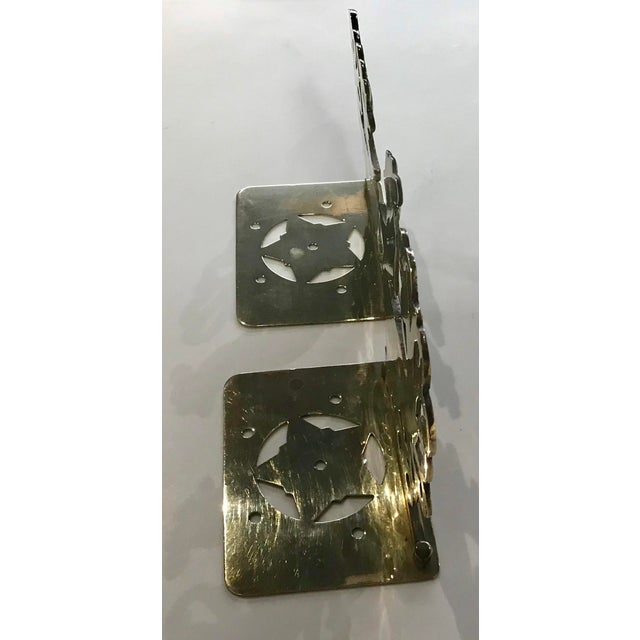 Mid 20th Century Vintage Brass Rooster Bookends - A Pair For Sale - Image 5 of 11