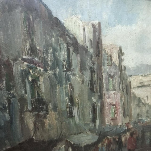 Gray Antique Impressionist Framed Oil Painting by Francesco Filosa (1910-1990) For Sale - Image 8 of 11