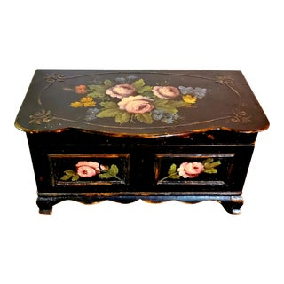 Antique Traditional Handpainted Keepsake Chest For Sale