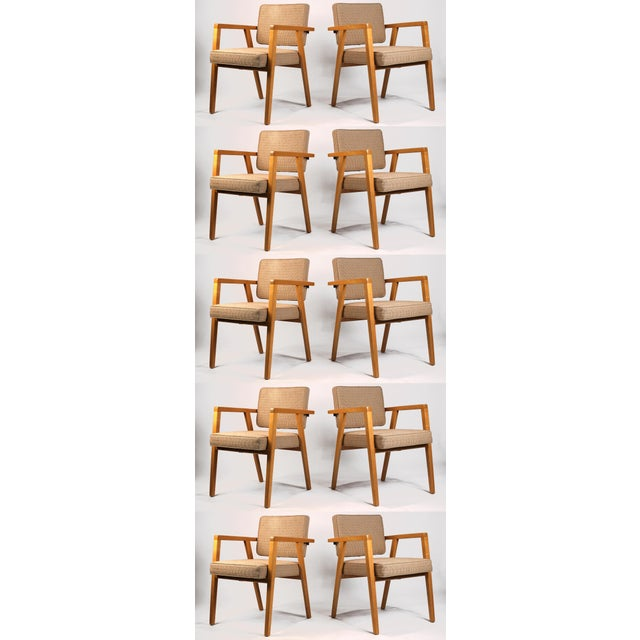 Set of Ten Fully Restored Vintage Franco Albini Dining Chairs Produced by Knoll For Sale - Image 10 of 10